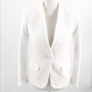 Gibson White 1 Button Long Sleeve Lined Blazer Sm